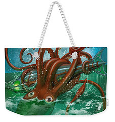 Giant Squid And Nautilus Weekender Tote Bag