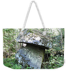 Weekender Tote Bag featuring the photograph Giant Stone Mushroom by Martin Howard