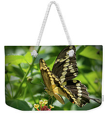 Giant Swallowtail On Lantana Weekender Tote Bag