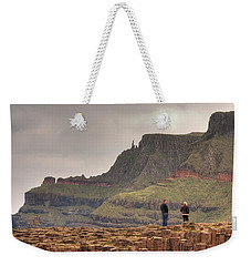 Weekender Tote Bag featuring the photograph Giants Causeway by Ian Middleton