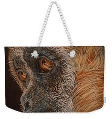 Weekender Tote Bag featuring the drawing Gibbon by Karen Ilari
