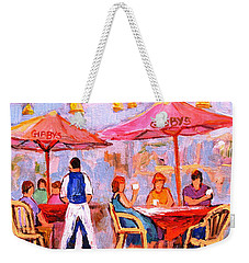 Gibbys Cafe Weekender Tote Bag by Carole Spandau
