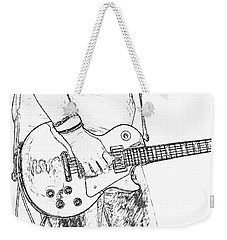 Gibson Les Paul Guitar Sketch Weekender Tote Bag