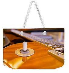Yellow Quilt Guitar Top Weekender Tote Bag