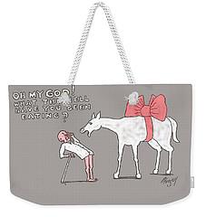 Gift Horse Weekender Tote Bag