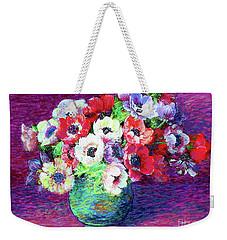Gift Of Anemones Weekender Tote Bag by Jane Small
