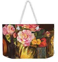 Weekender Tote Bag featuring the painting Gift Of Time by Marlene Book