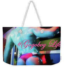 Weekender Tote Bag featuring the photograph #gigantesf #latinhiphop @friscorobbie by Mr Photojimsf