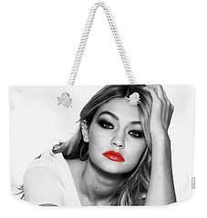 Gigi Hadid 1c Weekender Tote Bag by Brian Reaves