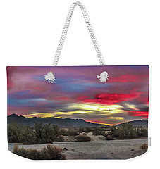 Gila Mountains And Sonoran Desert Sunrise Weekender Tote Bag by Robert Bales
