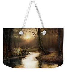 Weekender Tote Bag featuring the photograph Gilded Woodland by Robin-Lee Vieira