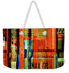 Weekender Tote Bag featuring the photograph Gimmie A Sign by Wayne Sherriff