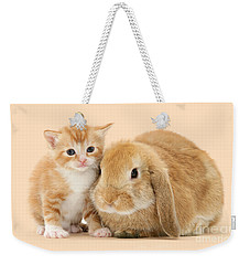 Ginger Kitten And Sandy Bunny Weekender Tote Bag