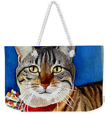Weekender Tote Bag featuring the painting Ginger by Marilyn Jacobson