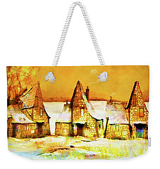 Gingerbread Cottages Weekender Tote Bag