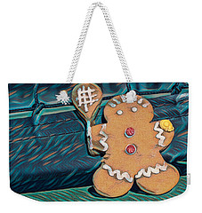 Weekender Tote Bag featuring the photograph Gingerbread Tennis Girl Remix by Dan McManus