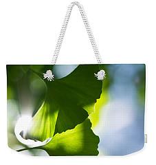 Gingko Leaves In The Sun Weekender Tote Bag