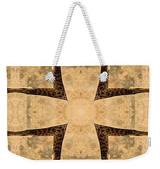 Giraffe Cross Weekender Tote Bag by Maria Watt
