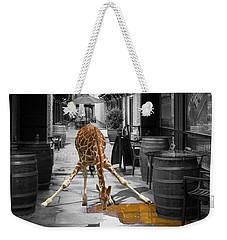 Giraffe Drinking Whiskey Series 4987y Weekender Tote Bag