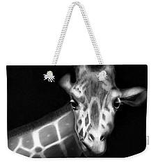 Giraffe In Black And White Weekender Tote Bag