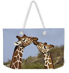 Giraffe Kisses Weekender Tote Bag