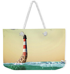 Giraffe Lighthouse Weekender Tote Bag
