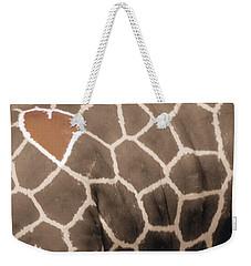 Giraffe Love Weekender Tote Bag