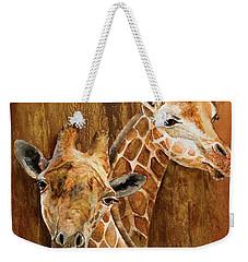 Giraffe Pair Weekender Tote Bag
