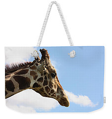 Weekender Tote Bag featuring the photograph Giraffe Profile by Sheila Brown