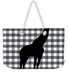 Giraffe Silhouette Weekender Tote Bag by Linda Woods
