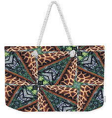 Giraffe Through The Window Weekender Tote Bag by Maria Watt