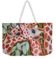 Giraffe Trio By Christine Lites Weekender Tote Bag