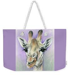 Giraffe With Beautiful Eyes Weekender Tote Bag by MM Anderson