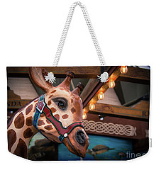 Weekender Tote Bag featuring the photograph Giraffecarousel by Lisa L Silva