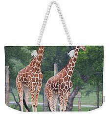 Giraffes In The Rain Weekender Tote Bag