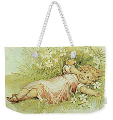 Girl And Chick Weekender Tote Bag