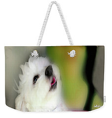 Girl And Puppy Painting 3 Weekender Tote Bag