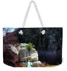 Girl At Piru Creek Weekender Tote Bag by Timothy Bulone