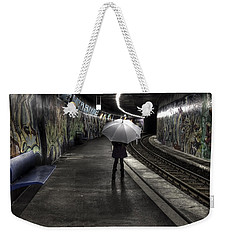 Girl At Subway Station Weekender Tote Bag by Joana Kruse