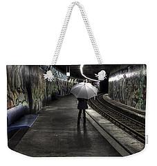 Girl At Subway Station Weekender Tote Bag