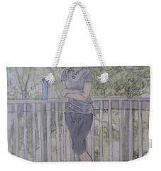 Girl At The Mountain Top Weekender Tote Bag by Joel Deutsch
