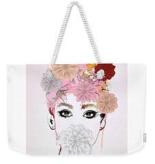 Girl Flower Power Weekender Tote Bag by Gallery Messina