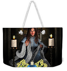 Girl Holding Candle Weekender Tote Bag