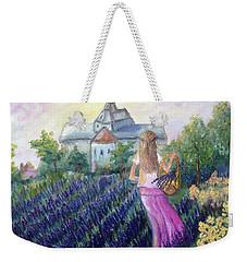 Girl In A Lavender Field  Weekender Tote Bag
