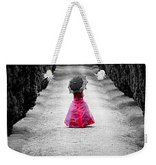 Girl In A Red Dress Weekender Tote Bag