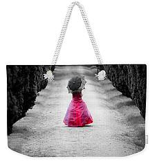 Girl In A Red Dress Weekender Tote Bag