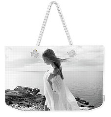 Girl In A White Dress By The Sea Weekender Tote Bag