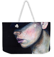 Girl In Black Hat Weekender Tote Bag