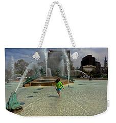 Girl In Fountain Weekender Tote Bag