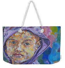 Burma Girl In Purple Weekender Tote Bag